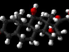 Cząsteczka kortyzolu - schemat