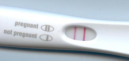 Pozytywny wynik testu ciążowego